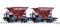Tillig 01800 Güterwagenset der DRG, bestehend aus zwei Schotterwagen, Ep. II