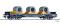 Tillig 76752 Flachwagen Sgmmns 4505 der On Rail GmbH, mit Beladung, Ep. VI -FORMNEUHEIT-