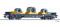 Tillig 76753 Flachwagen Sgmmns 4505 der On Rail GmbH, mit Beladung, Ep. VI -FORMNEUHEIT-