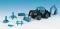 Kibri 12226 KIB/H0 LANZ Traktor mit Festwagen, inkl. 5 Figuren