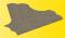 Viessmann 48242 VOL/H0 Straßenplatte Kopfsteinpflaster, 60°-Einmündung, 22 x 19,5 cm