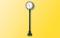 H0 Beleuchtete Bahnsteiguhr, LED weiß mit Kontaktstecksockel