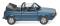 Wiking 004604 VW Golf I Cabrio - oceanic blue metallic