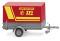 Wiking 005605 Feuerwehr - Pkw-Anhänger