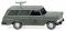 Wiking 007148 Fernmeldedienst - Opel Rekord 60 Caravan