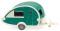 Wiking 009238 Wohnwagen (T@B) - grün/perlweiß