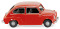 Wiking 009904 Fiat 600 - rot
