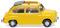 Wiking 009905 Fiat 600 mit offenem Faltdach - gelb