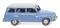 Wiking 012301 Auto Union 1000 Universal - blau mit weißem Dach