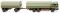 Wiking 043306 Pritschenhängerzug (MB) - schilfgrün