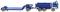 Wiking 069326 THW - Tiefladehängerzug (MB NG)