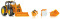 Wiking 077342 John Deere 7430 kommunal mit Frontlader und Frontlader-Werkzeugen