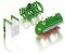 Wiking 077382 Frontlader Werkzeuge Set B - John Deere grün
