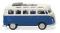 Wiking 079721 VW T1 Sambabus - perlweiß/blau