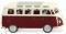 Wiking 079722 VW T1 Sambabus - purpurrot/cremeweiß