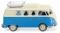 Wiking 079733 VW T1 Campingbus - perlweiß/blau