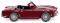 Wiking 081505 Triumph TR4 - purpurrot