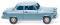 Wiking 082303 Borgward Isabella Limousine - eisblau-metallic