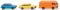 Wiking 091501 Zwei Pkw mit ein Kastenwagen