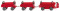 Wiking 116003 Elektrokarren mit Anhängern (Still) - rot